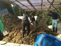 来期の準備・・・自家製堆肥の仕込み実施の画像
